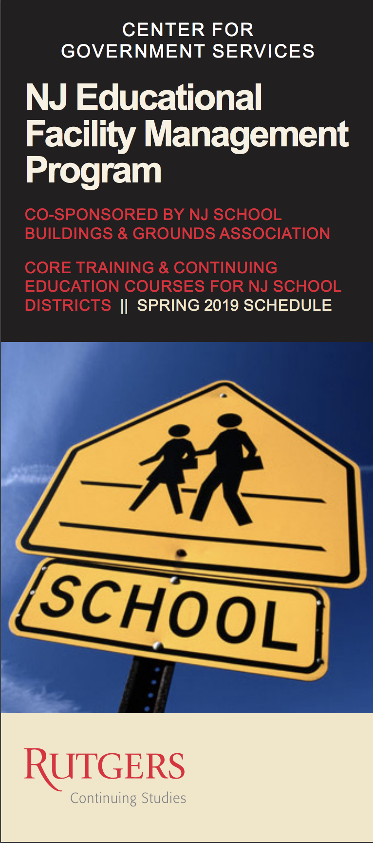 Rutgers Spring 2019 Schedule NJ Educational Facility Management | Center For Government Services